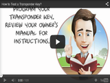How to test a transponder key video